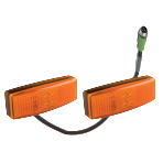 Double Amber Side Marker Pair With Junction Box Connector (RKF-DSM-1)