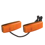 Double Amber Side Marker Pair With Lamp Connector (RKF-DSM-2)