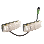 Double White Front Marker Pair With Junction Box Connector (RKF-DFM-1)