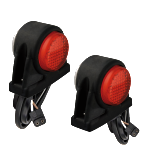 Red And White Stubby Side Marker Pair And Rear Lamp Connections (RKF-STB-0)